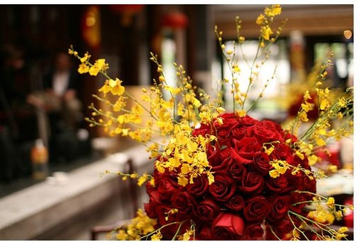 Wedding red floral centerpieces pictures g