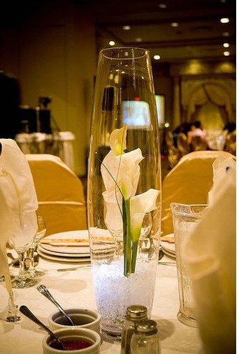 Simple wedding table center piece for Center arrangements for weddings