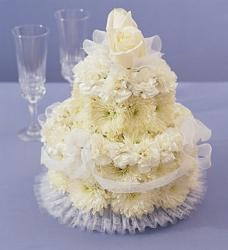 Flower Cake for Wedding with white flowers.jpg
