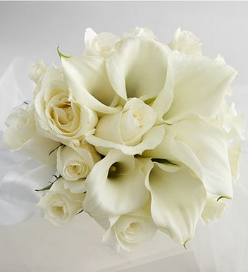 White Rose & Mini Calla Lily Bride's Bouquet photo.jpg