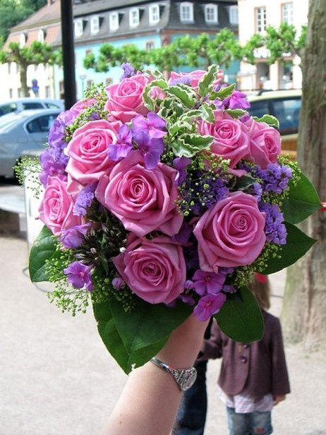 Image From Http Www Flowerpicturegallery D 8684 1 Pink And Purple Wedding Bouquet Jpg Bride S Bouquets Pinterest Weddings